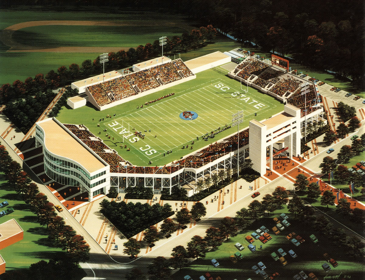 Betschassociates dawson stadium expansion south - Interior design schools in south carolina ...